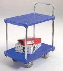 Gpc Two Shelf Plastic Trolley
