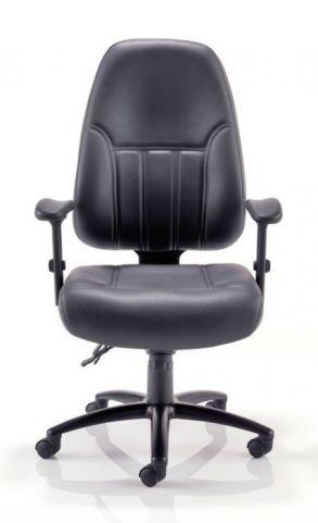 Baxman Black Leather 24 Hour Use Chair