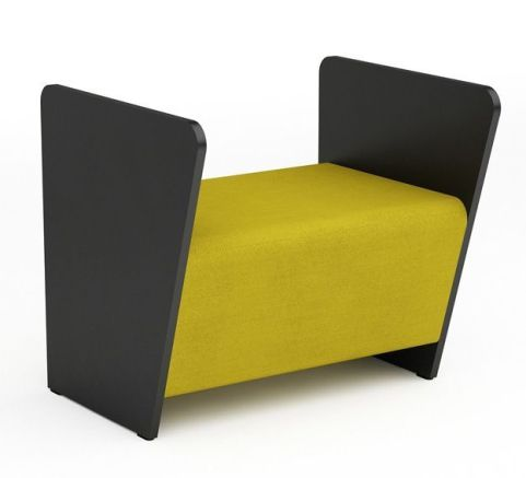 Magnitude Single Bench Sofa With High Sides And No Back