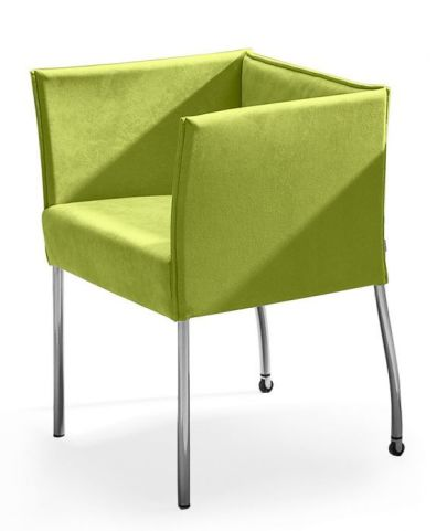 Cubix Designer Chair In Lime Green Side View