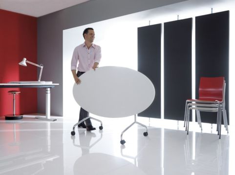 Tamar Oval Flip Top Table Install Shot