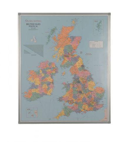 Framed Dry Wipe Map Uk Political