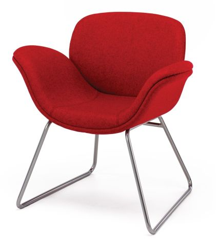 Way Fully Upholstered Tunb Chair With A Sled Base