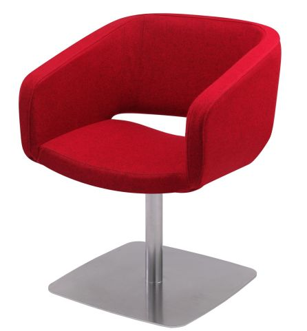 Selby Designer Tub Chair With A Square Metal Base