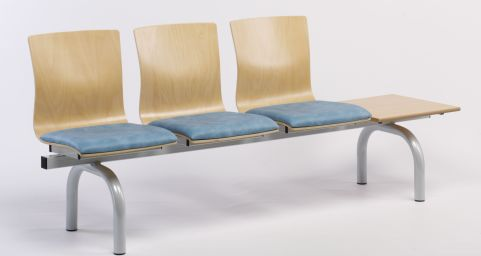 Expo Three Seater Beam And Table And Upholstered Seat