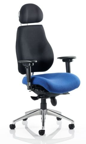 Chiro Ultimate Chair With Headrest Two Tone Fabric