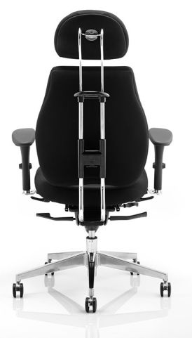 Chiro Ultimate Chair In Black Leather With Headrest