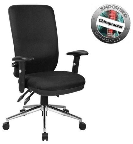 Chiro High Back Chair Black Fabric