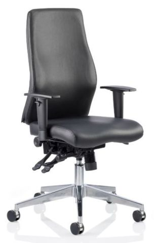 Jet Ergonomic Black Leather Task Chair