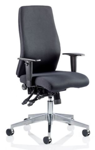Jet Black Fabric Cahir Without Headrest
