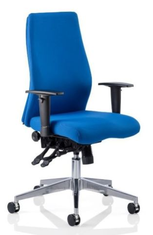Jet Blue Fabric Task Chair With Out Headrest