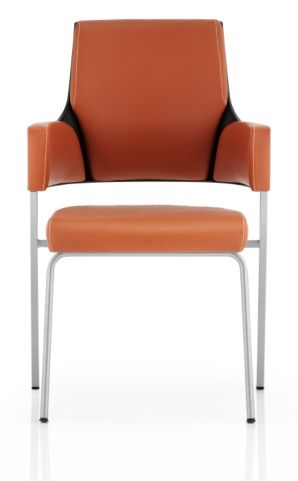 Holster Executive Visitors Chair Tan Leather