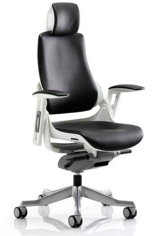 Taurus Black Leather Task Chair