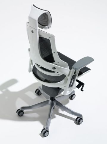 Taurus Black Leather Task Chair From Above