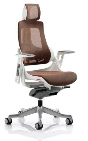 Taurus Mandarin Orange Task Chair With Heaqdrest
