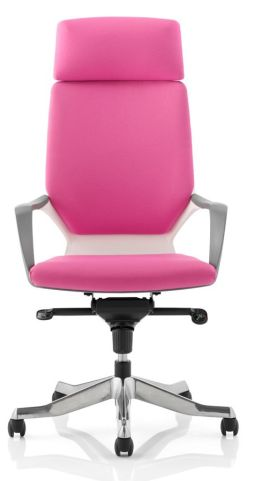 Atomic High Back Chair With Headrest In Pink