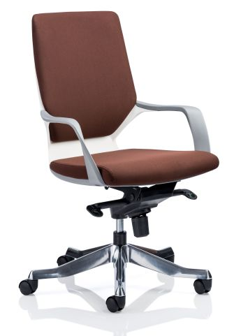 Atomic Executive Chair Brown Fabric