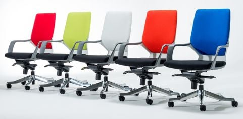 Atomic Executive Chairs Coloured Backs