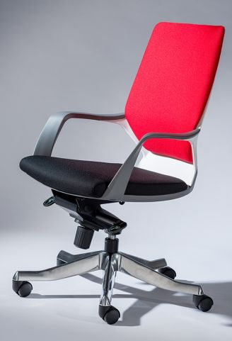 Atomic Executive Chair Red Back