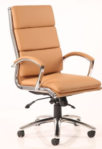 Classio Tan Leather Executive Chair