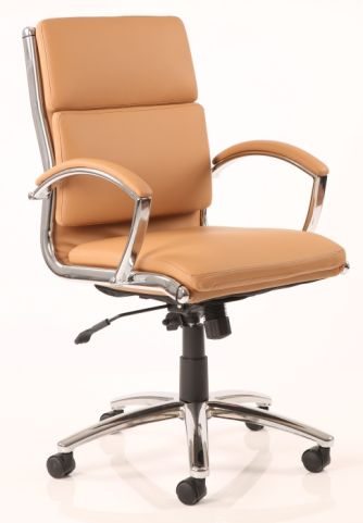 Classio Designer Executive Chair In Tan Leather