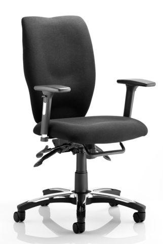 Motion Ergonomic Task Chair Black Stock Fabric