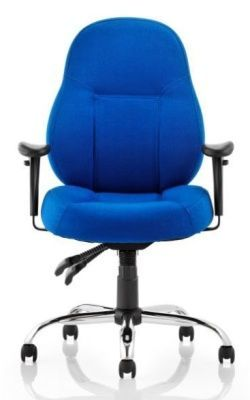 Minster Chair Blue Fabric Facing