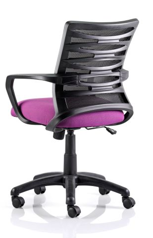Whirlwind Mesh Chair Pink Seat Rear View