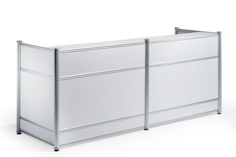 Imeet White Gloss Reception Desk