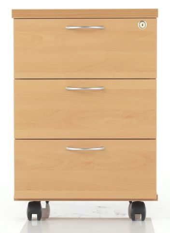 Rapido Three Drawer Wooden Mobile Pedestal