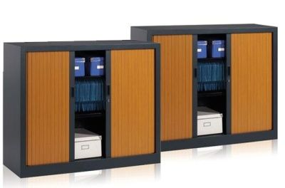 XFO Two Tone Tambour Cabinets