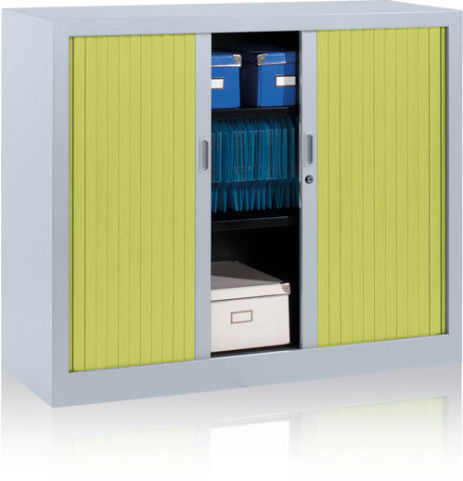 Jester Tambour Cabinet With Lime Green Shuttters