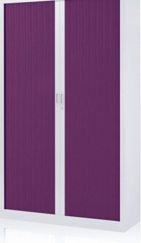 Jester Cabinet With A Plum Coloured Tambour Shutter