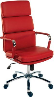 Decodo Swivel Executive Chair In REd