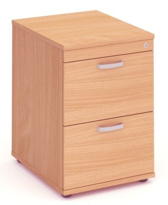 Solar Two Drawer Wooden Filing Cabinet