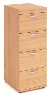Solar Four Drawer Wooden Filing Cabinet
