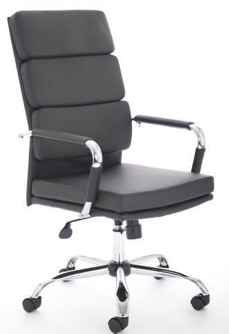 Majestic High Back Leather Chair Front Angle
