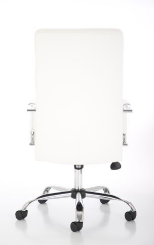 Majestic White Leather Executive Chair Rear View