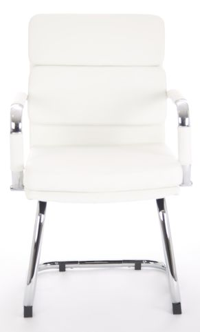 Majestic White Leather Conference Chair