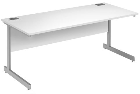 Draycott Rectangular Desk In White