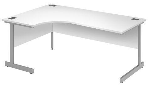 Draycott Left Hand Corner Desk In White