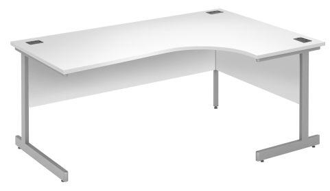 Draycott Right Hand Corner Desk In White