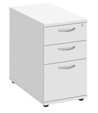 Draycott Desk Height Pedestal In White