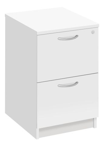 Draycott Two Drawer Filing Cabinet In White