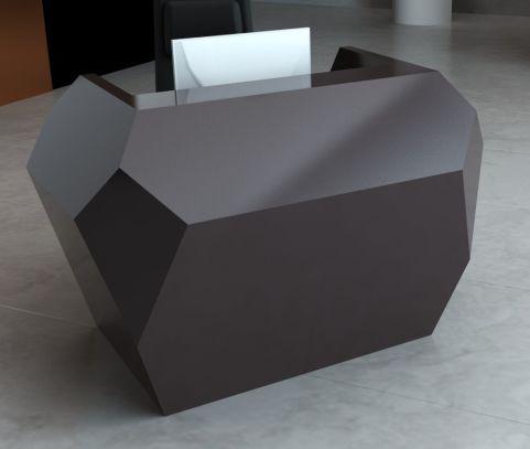 Invite Compact Corian Reception Desk Deep Cloud