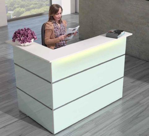Capri Glass Reception Desk 4