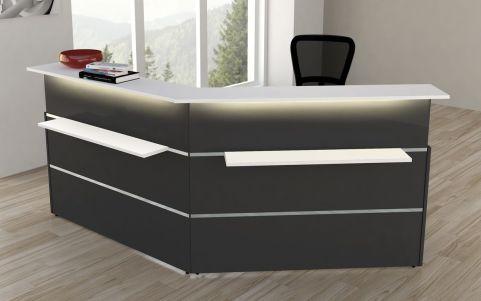 Capri Anthracite Reception Desk No 9