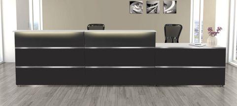 Capri Antharcite Reception Desk No 4