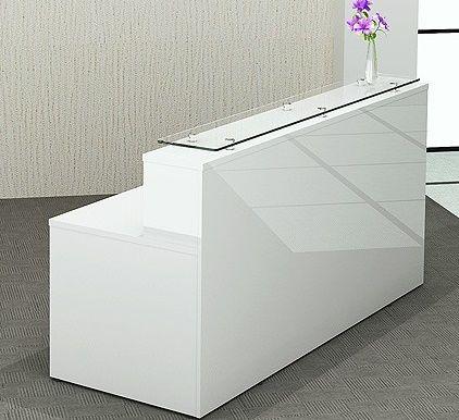 Glossy White Recption Desk