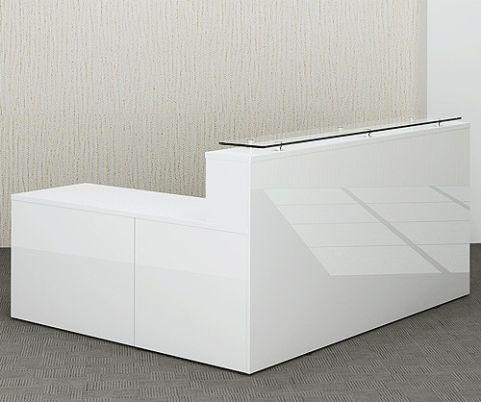 Glossy Reception Desk And Return